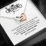 You Will Always Be Loved Graduation Gift Interlocking Hearts Necklace