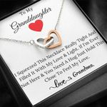 Gift For Granddaughter Interlocking Hearts Necklace You Need A Hug Just Hold