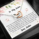 Gift For Sister You Make Me Laugh Interlocking Hearts Necklace