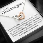 You Will Never Lose Gift For Granddaughter Interlocking Hearts Necklace