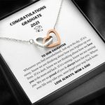 Love Always Mom And Dad Graduation Gift For Daughter Interlocking Hearts Necklace