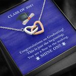 You Are A Star In The Making Graduation Gift Class Of 2021 Interlocking Hearts Necklace