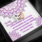 Purple Mandala Mom Gift For Daughter I Love You Interlocking Hearts Necklace