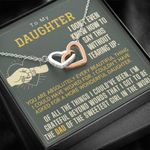 Gift For Daughter You Are Absolutely Every Beautiful Thing Interlocking Hearts Necklace