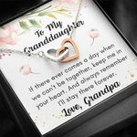 Grandpa Gift For Granddaughter Keep Me In Your Heart Interlocking Hearts Necklace