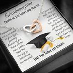 Graduation Gift For Granddaughter Love You Today And Always Interlocking Hearts Necklace
