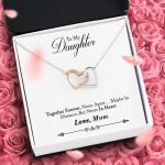 Mum Gift For Daughter Together Forever Interlocking Hearts Necklace