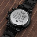 Gift For Dad I Appreciate You Engraved Customized Black Chronograph Watch