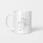 one line art mug