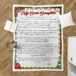 Sherpa Blanket for beloved daughters (Chrismast letters)