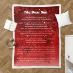 Sherpa Blanket for beloved sons (Chrismast letters)