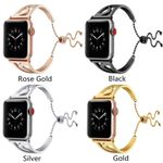 'S'-Shape Stainless Steel Strap For Apple Watch Series 1,2,3,4