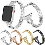 'X'-Shape Stainless Steel Strap For Apple Watch Series 1,2,3,4