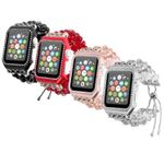 4 Colors Crystal Rhinestone Strap For Apple Watch Series 1,2,3,4