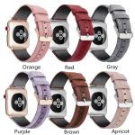 6 Colors Outdoor Nylon With Leather Strap For Apple Watch Series 1,2,3,4