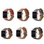 6 Colors Rivet Leather Straps For Apple Watch Series 1,2,3,4
