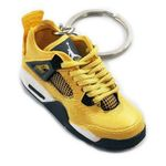 "Air Jordan 4 Retro ""Flash Yellow"" Mini Sneaker(Tiny Sneaker) Keychain"