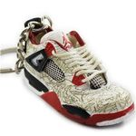 "Air Jordan 4 Retro ""Laser"" Mini Sneaker(Tiny Sneaker) Keychain"