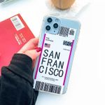Air Tickets Boarding Pass iPhone Case