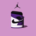 AJ1 'Court Purple' Airpods Case
