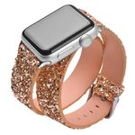 Blingbling Double Loops Glitter Strap For Apple Watch Series 1,2,3,4