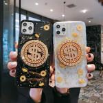 Blingbling Rhinestone Rotatable USD Gold Symbol iPhone Case
