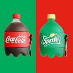 Coca Cola and Sprite Bottle Airpods Case