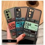 Colorful Boarding Pass iPhone Case