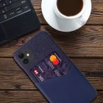 Colorful Leather Card Slot Cloth iPhone Case