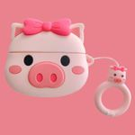 Cute Bow-knot Pig Airpods Pro Case