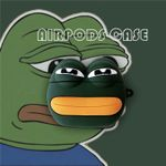 Feels Bad Man Sad Frog Airpods Case