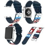 Flag Print Strap For Apple Watch Series 1,2,3,4