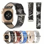 Marble Printing Leather Strap For Apple Watch Series 1,2,3,4