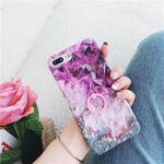 Mixed Purple Marble Texture With Phone Grip