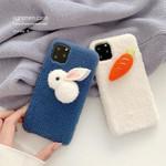 Rabbit & Carrot Plush iPhone Case