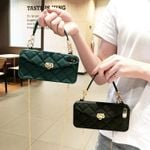 Rhombus Lattice Handbag Shaped iPhone 11 Pro Max Phone Case
