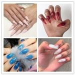 STILETTO JELLY 10 COLORS FAKE NAILS