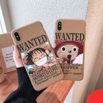 One Piece Luffy Chopper WANTED Poster iPhone Case