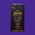 Black Lakers iPhone Case