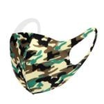 Green Camouflage Pattern Face Mask