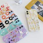 Colorful LOVE Transparent iPhone 12 Case