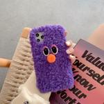 Cute Purple Plush Monster iPhone Case