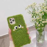 Cute Green Plush Monster iPhone Case