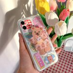 Cute Bear with Words iPhone Case
