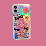 Retro Bear Laser iPhone Case