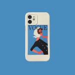Magazine Girl iPhone Case