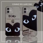 CDG Dark Clear iPhone Case