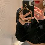 Luxury Hanging Ring Leather iPhone Case