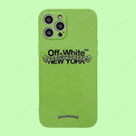Fluorescent Green OW iPhone Case