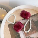 Vintage Rose Pearl Chain Airpods Case